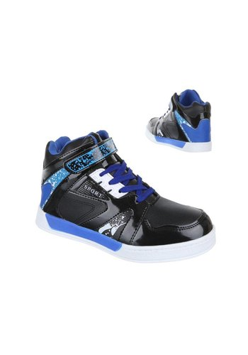 COMET Kinder Sportschoen Zwart Blauw