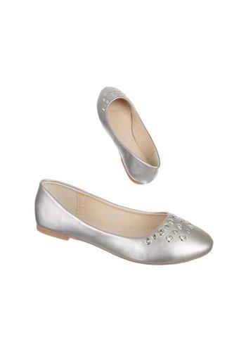 NICE SHOES Kinder Ballerinas - Silber