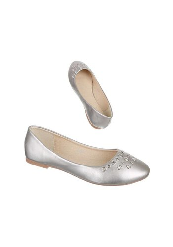 NICE SHOES Kinder Ballerinas - zilver