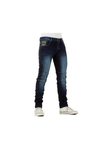 ONE TWO Heren Jeans van One Two - DK.Blauw