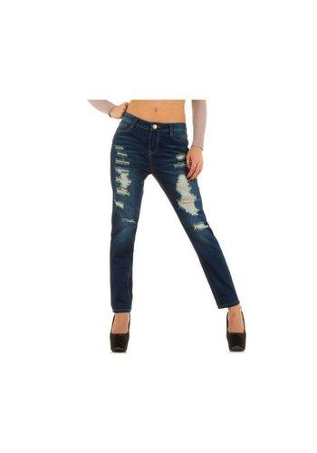 R.DISPLAY JEANS Dames Jeans van R.Display Jeans - D. Blauw