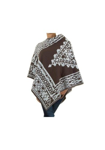 Neckermann Ladies Poncho Gr. une taille - taupe