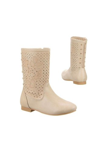 LUCKY SHOES Kinder Stiefel - beige²