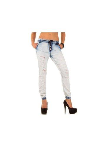Rjonaco Dames Jeans van Rjonaco - Licht Blauw