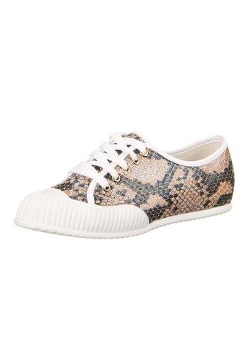 LICEAN Dames Sneakers Khaki