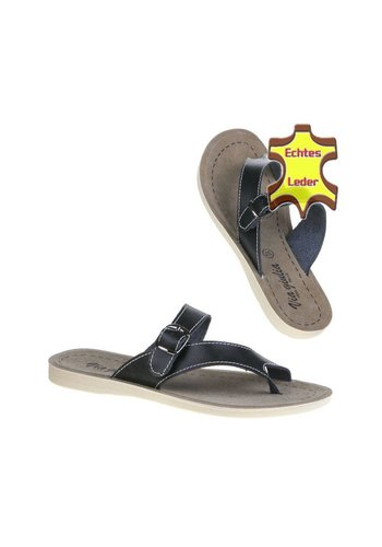 VIA GIULIA Dames Leren slippers Zwart