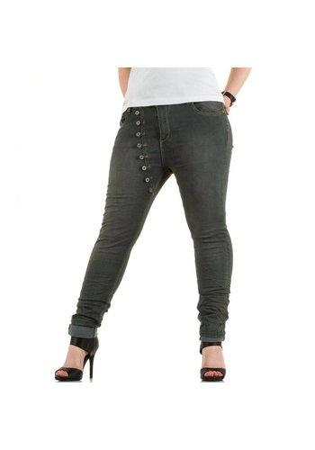 Mozzaar Dames Jeans van Mozzaar - Grijs