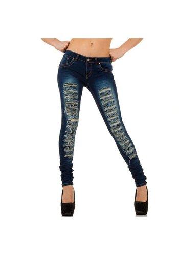 GIRL VIVI Dames Jeans van Girl Vivi - Donker Blauw
