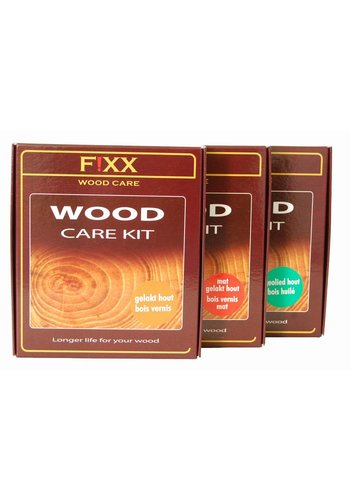 FiXX  Kit de soins du bois pour bois laqué 2x 200 ml