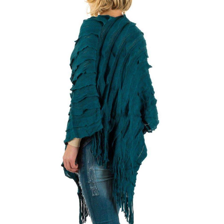 Damen Strickjacke von Best Fashion Gr. one size - petrol
