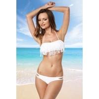 Bikini met franjes wit