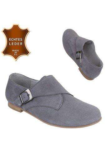 DINAGO SHOES Chaussures en cuir pour femmes - gris