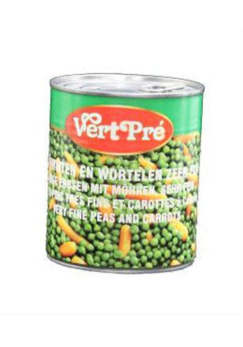 Vert Pré Doperwten en wortelen zeer fijn 850 ml