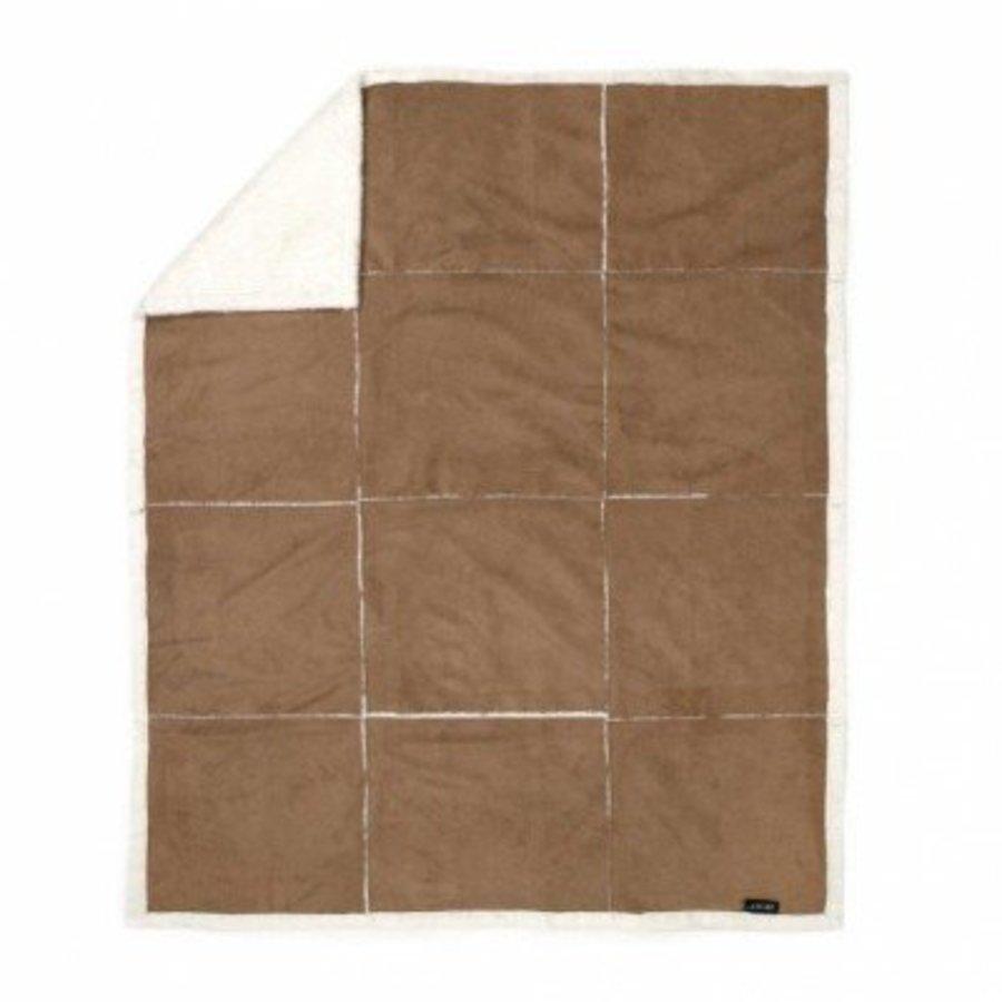 Fleece Plaid 125x150 Suedelook Patchwork