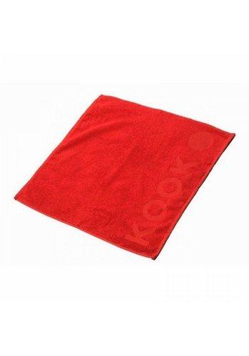 Kook Keukendoek  rood of zwart - 50x50 cm