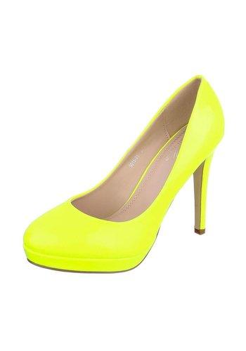 SMALL SWAN High Heels pour femme  - jaune