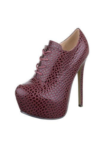 Neckermann Damen Stiletto mit Reptildruck - Bordeaux