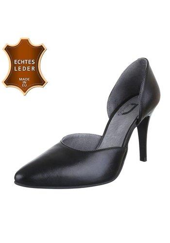 DINAGO SHOES Damen Pumps - schwarzes Leder