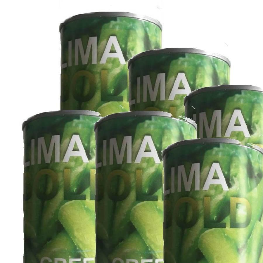 Asperges vertes  coupés 411 grammes (pour 6 boîtes)