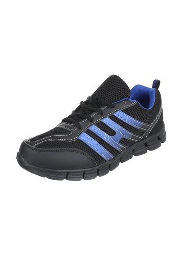 Neckermann Baskets pour Hommes - noir/bleu