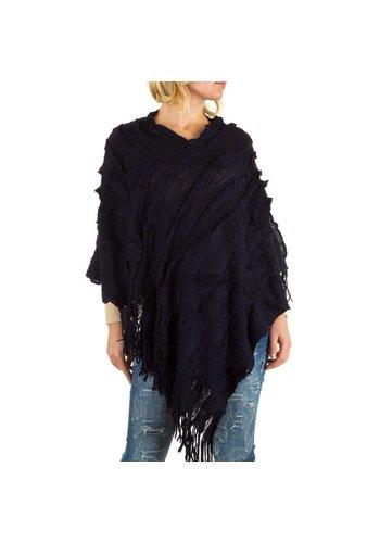Best Fashion Dames Poncho van Best Fashion ne size - Donker Blauw