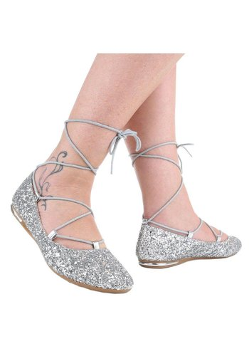 img Dames Ballerina's - zilver