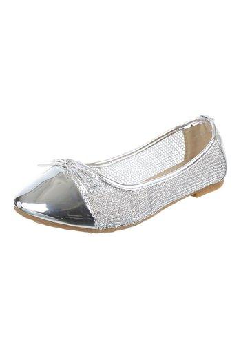 JULIET Dames Ballerina's - zilver