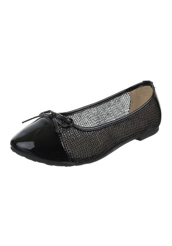 JULIET Dames Ballerinas - zwart
