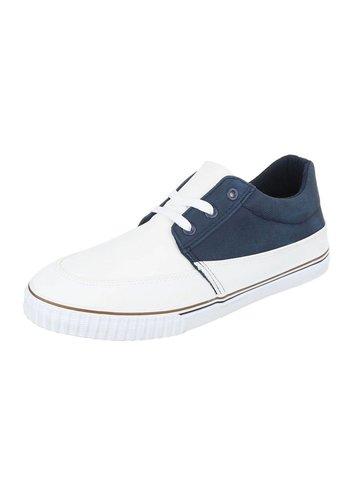 Neckermann Heren Sneakers - Wit Blauw