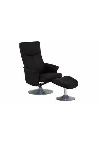 Neckermann Relaxstoel Erica bruin met voetenbank Bruin