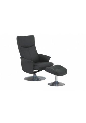 Neckermann Relaxstoel Erica met voetenbank grijs