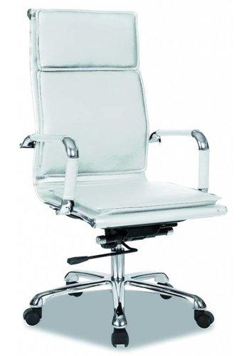 Neckermann Chaise de bureau Café Cappuccino Blanc