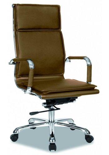Neckermann Chaise de bureau Café Cappuccino Leatherlook