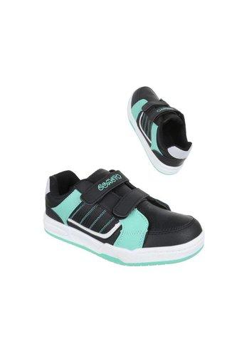 COMET Kinder Sneakers - zwart/groen