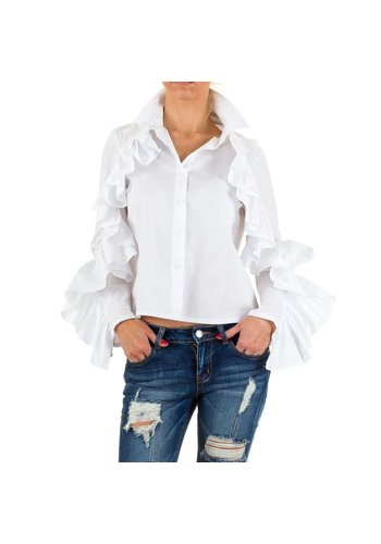 SHK MODE Dames Blouse van Shk Mode - wit