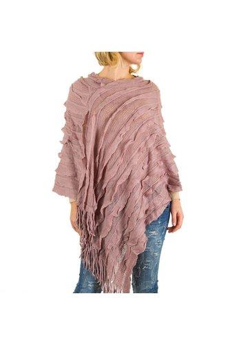 Best Fashion Dames Poncho van Best Fashion one size - roze