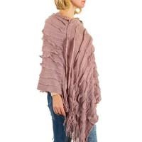 Poncho pour femme de Best Fashion taille unique - rose