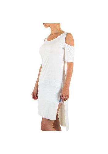 Markenlos Damen Tunika von Moewy Gr. one size - white