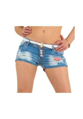 Neckermann Dames Shorts van Mozzaar - lichtblauw