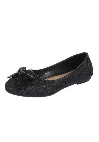 J.K.SHOES Damen Ballerinas - black