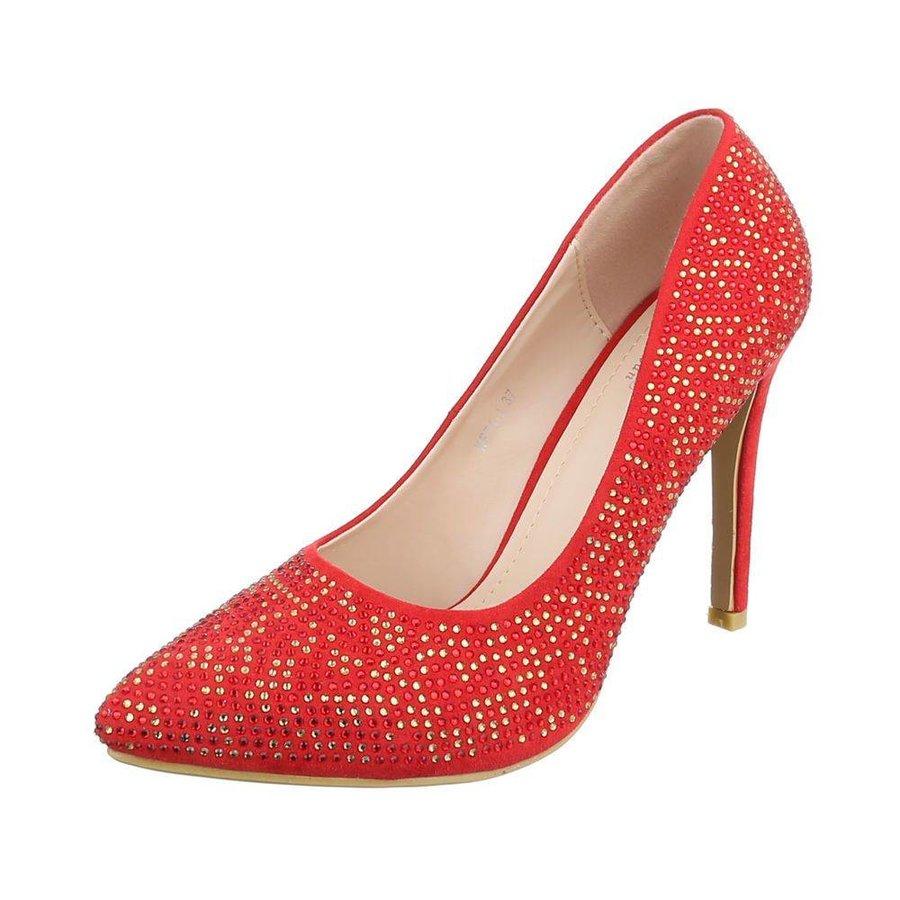 Damen High Heels - red