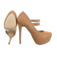 Damen High Heels - camel