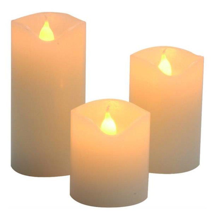 LED Kerze rustikal mit Timer  - Copy