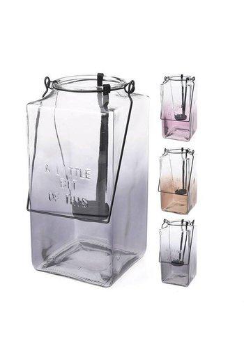 Neckermann Lanterne de verre avec poignée