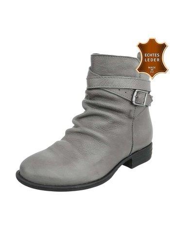 Neckermann Damen Leder Stiefeletten - grey