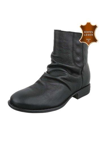 Neckermann Damen Leder Stiefeletten - black