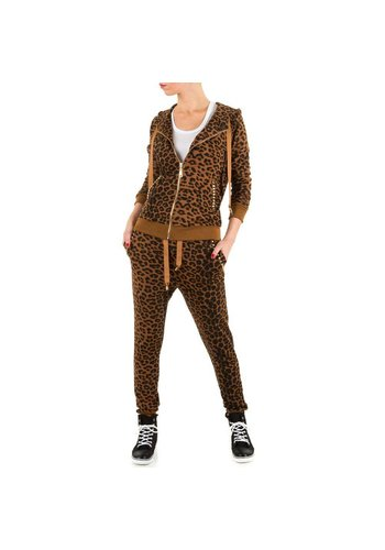 EMMA&ASHLEY DESIGN Dames Joggingpak van Emma&Ashley Design - leopard