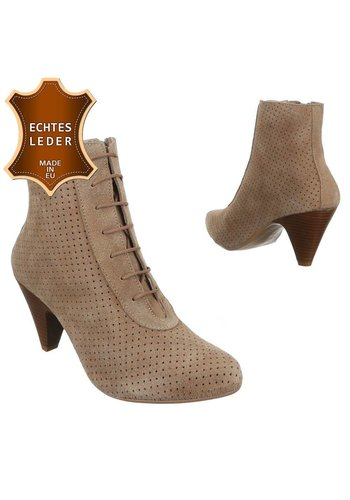 DINAGO SHOES Bottines pour femme en cuir - taupe