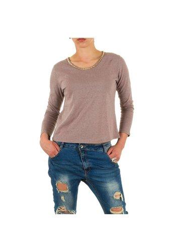 JULIE BY JCL Damen Shirt von Julie By Jcl - taupe
