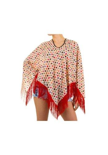 Best Fashion Dames  Poncho van Best Fashion one Size Cream